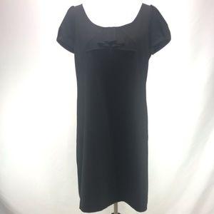 Ann Taylor Loft Puff Sleeve Black Dress 12 Petite